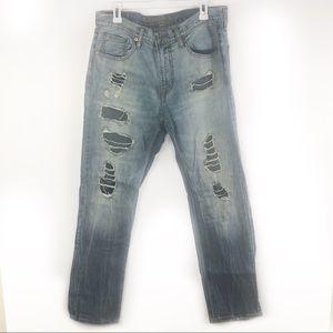American Eagle | Slim Straight Distressed Jeans